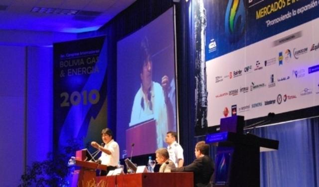 Evo Morales congreso internacional bolivia gas energia
