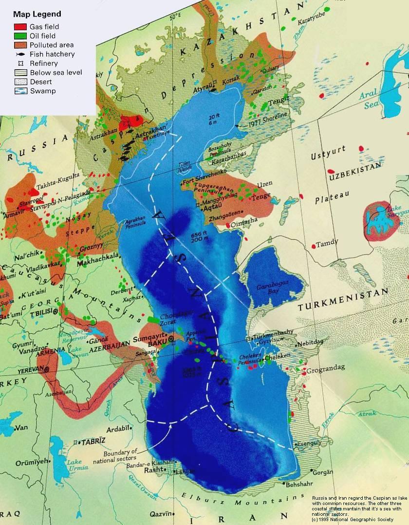 Oil and Gas Field of Caspian Sea